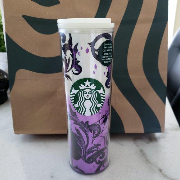 Starbucks Halloween Glow in the Dark Purple Ombre